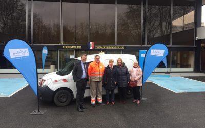 Nouveau véhicule pour la Croix-Rouge en Essonne