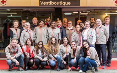 Inauguration d'une vestiboutique à Massy